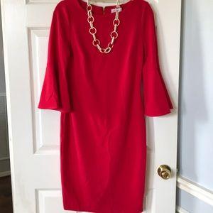 Calvin Klein- Red Dress Size 8